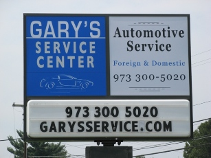 Gary's Service Center Sign